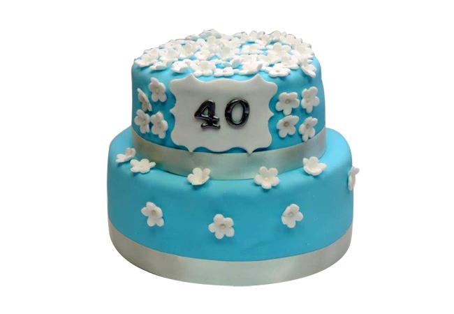 עוגה ליום הולדת 40