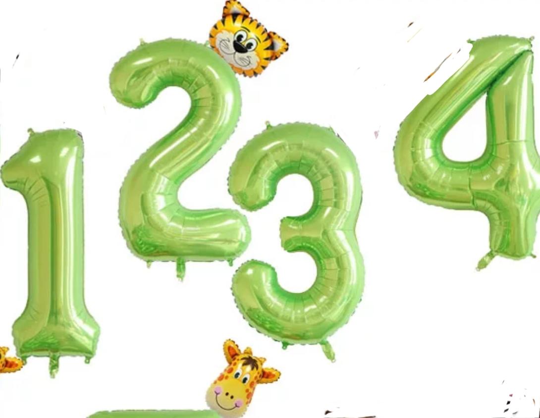 מספרים ירוק